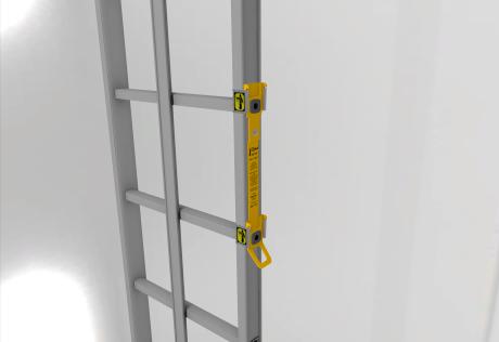 Trepes ar vertikālo drošības sistēmu